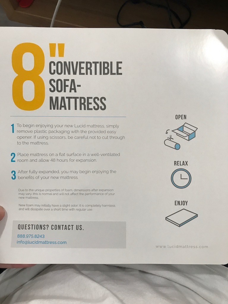 Lucid 8 Inch Convertible Mattress Sofa Review