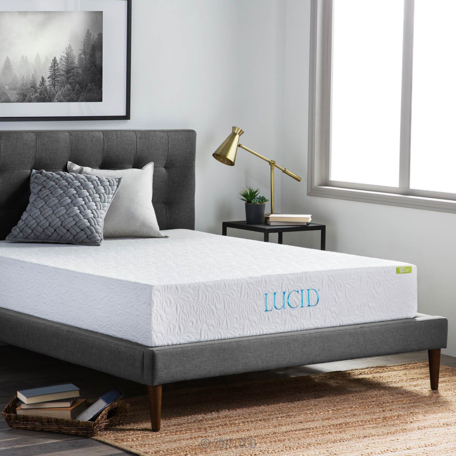 Lucid 10 Inch Latex Foam Mattress