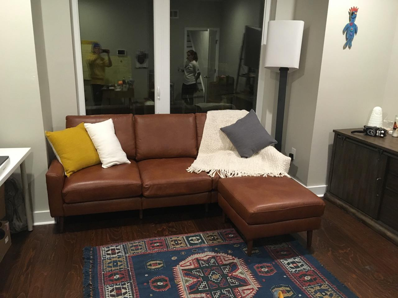 Burrow Nomad Leather Sofa Review| No One Will Believe This Came From A Box