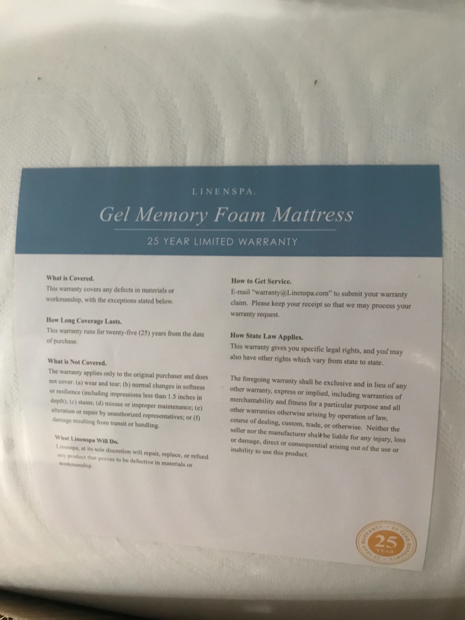 Linenspa 10 Inch Gel Mattress Review