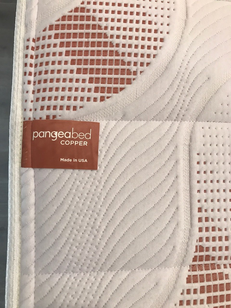 Pangea says its copper layer offers antimicrobial, antibacterial, hypoallergenic benefits