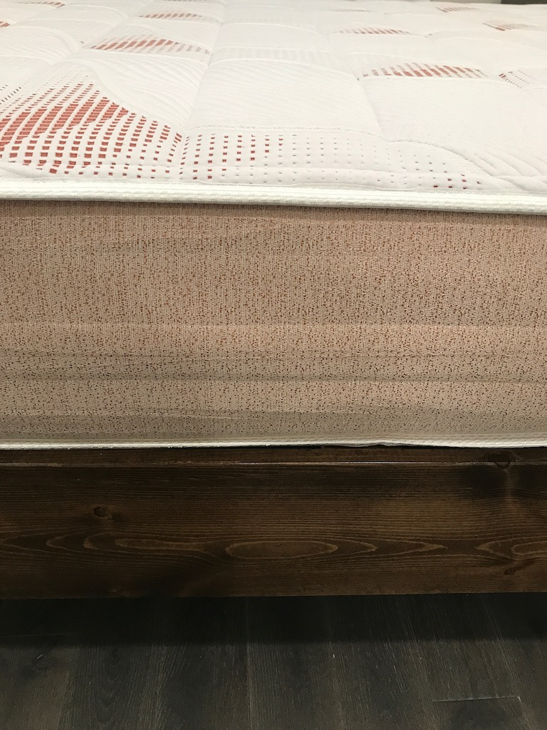Pangea Mattress Review Examined The Value and Craftsmanship with detail of side cover and stitching