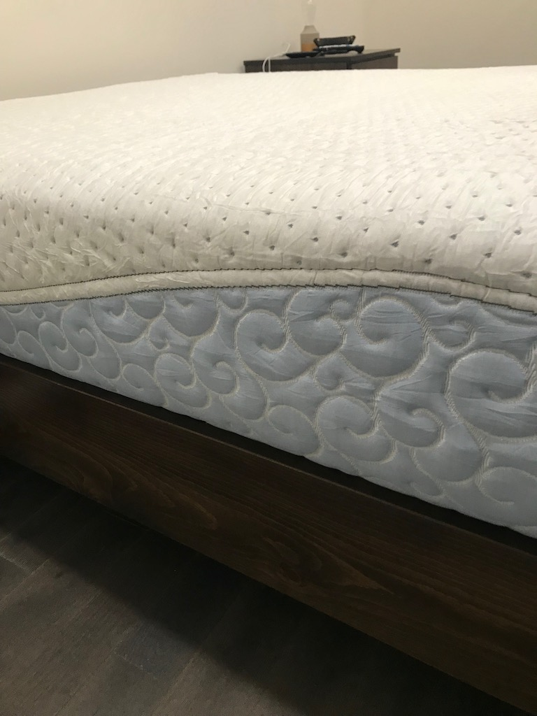 Agility Mattress Review side view showing stitching detail