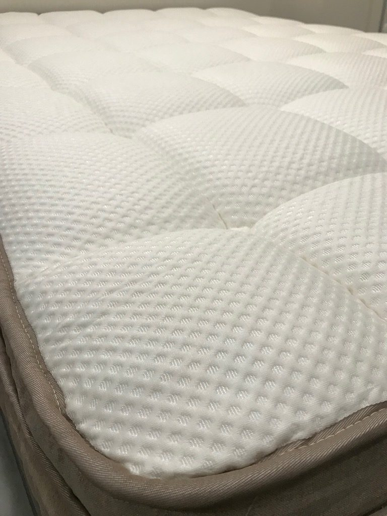DreamCloud Mattress In Home Test Detail Showing Mattress cover