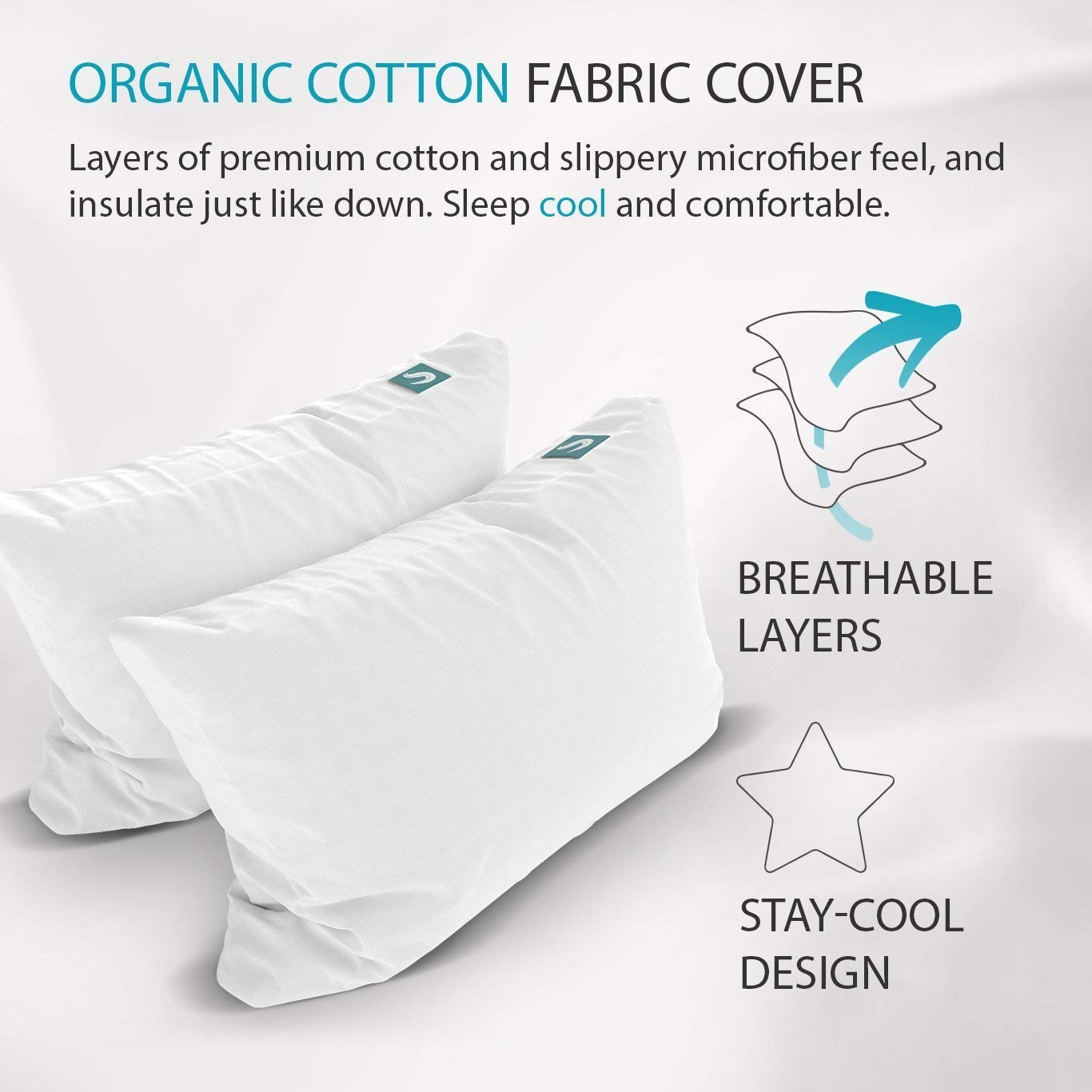 Organic Cotton Fabric Cover - Layers of Premium Cotton With Breathable Layers That Stays Cool