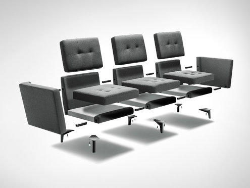 Detailed sectional view of the Burrow couch and all its parts
