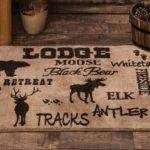 Black forest decor rugs
