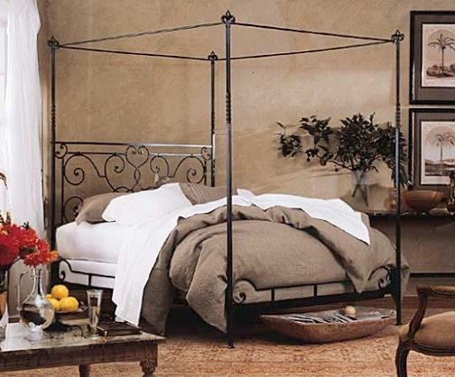 metal canopy bed